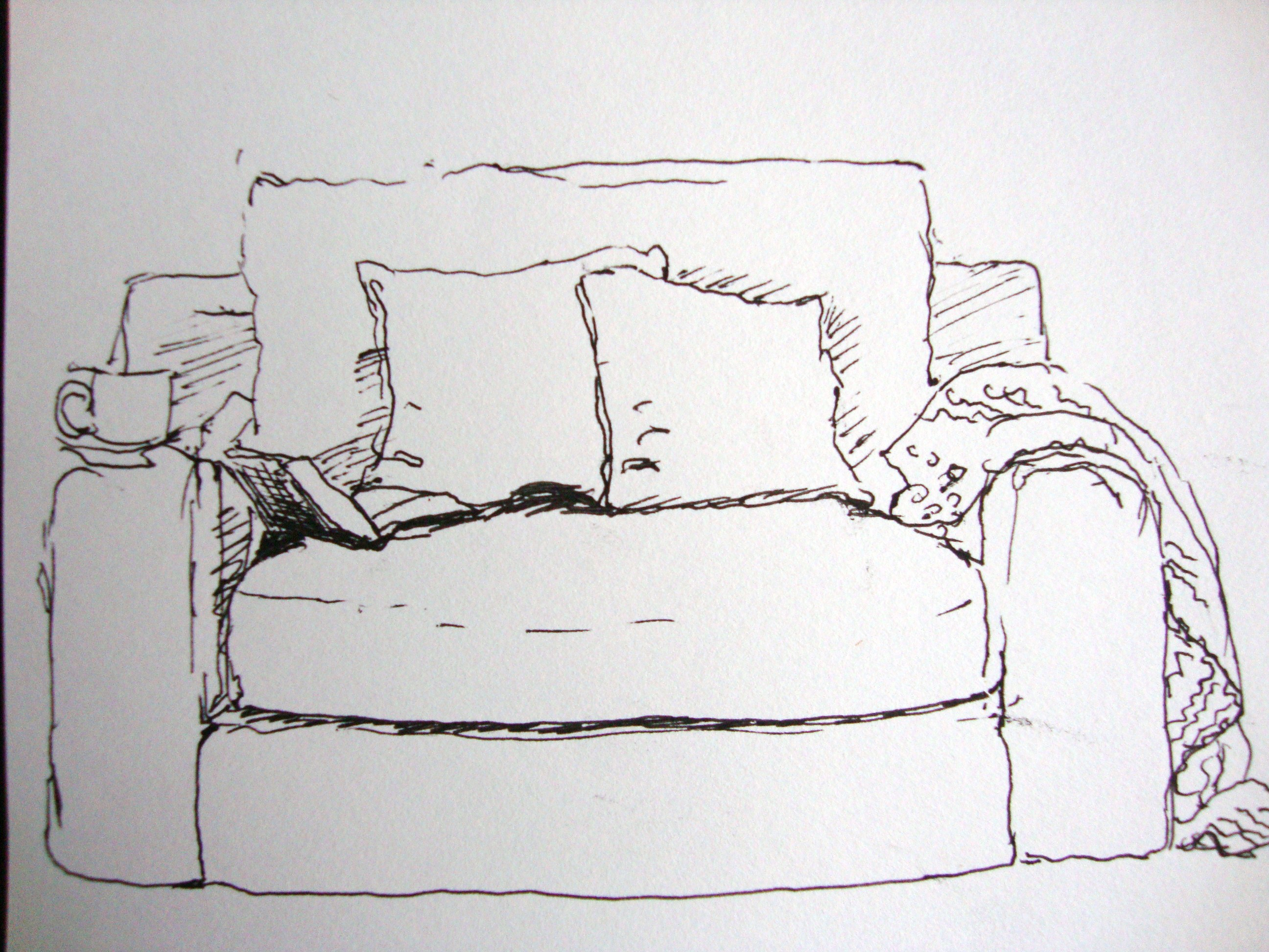 Heute ist mein frei tag zeichnen mit martina wald for Sofa zeichnen fluchtpunkt