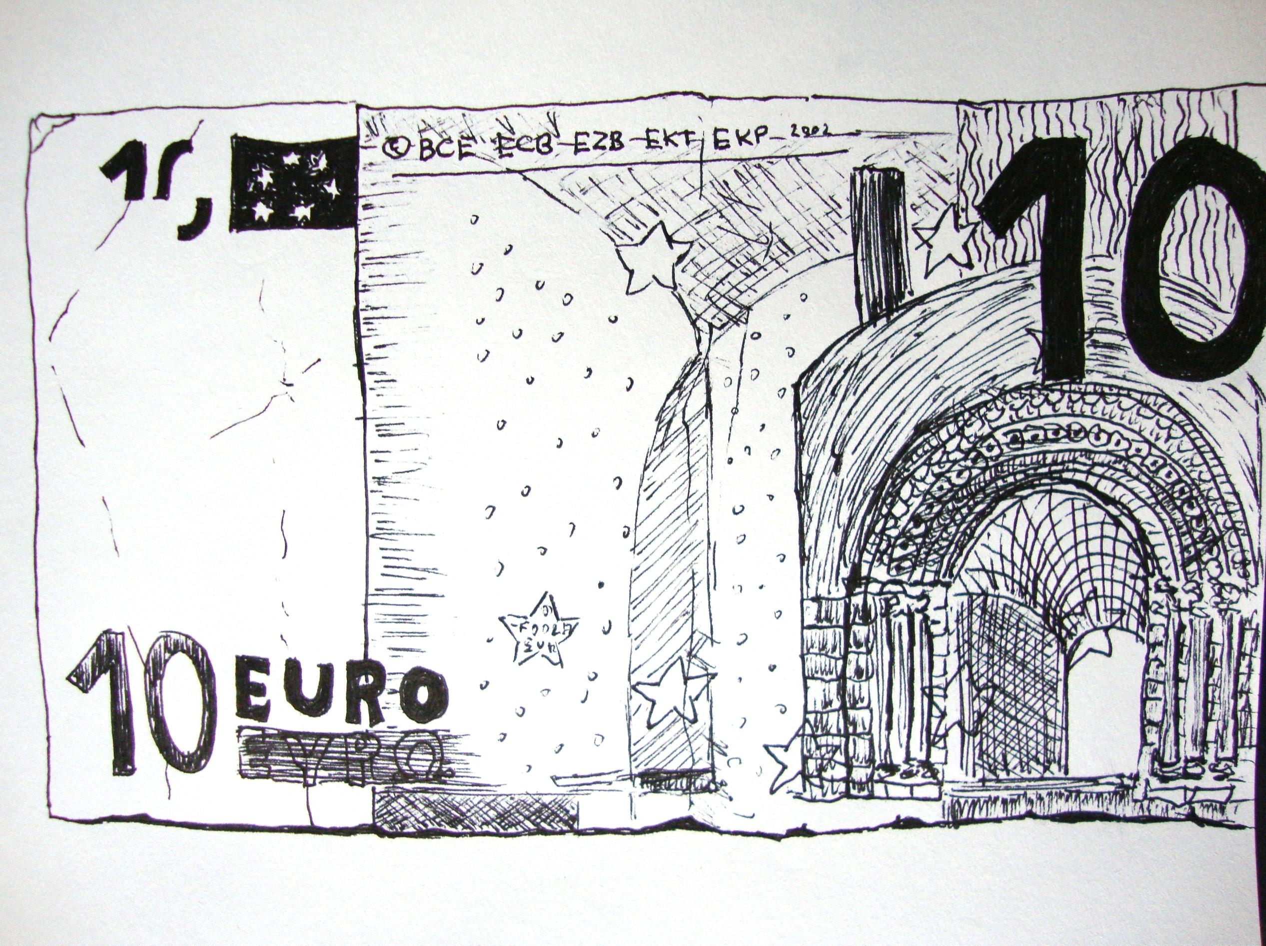 Geldschein Zeichnen Mit Martina Wald