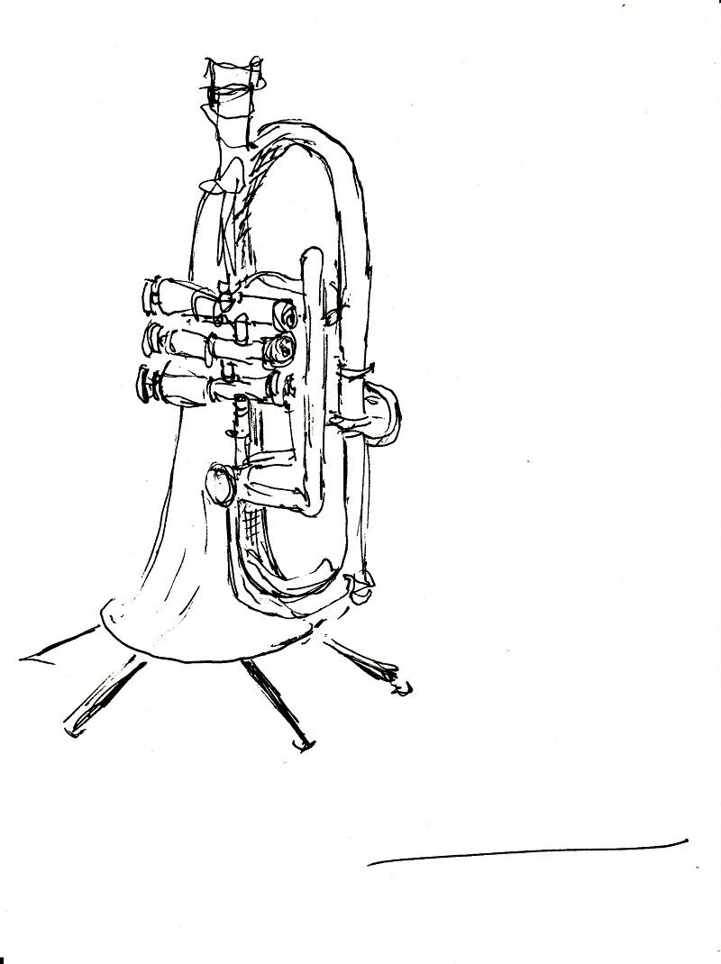Flügelhorn | zeichnen mit Martina Wald