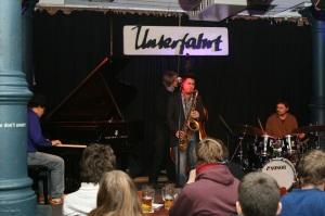 Jazz Quartett auf der Bühne