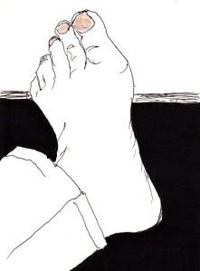 Fuß mit Nagellack_0001