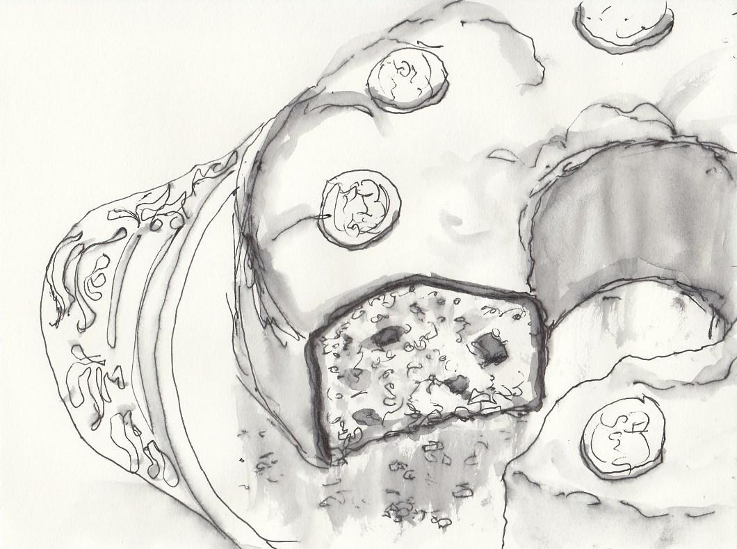 Nuss Nougat Kuchen Zeichnen Mit Martina Wald