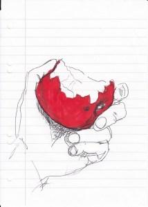 Apfel in der Hand