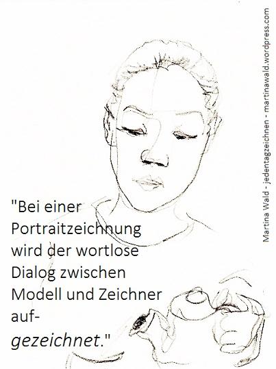 Portraitzeichnung aufgezeichnet