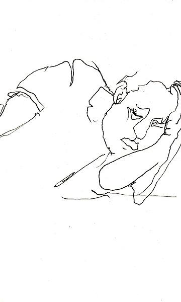 Roland auf der couch zeichnen mit martina wald for Couch zeichnen